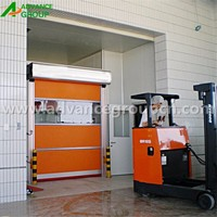 Modern industry high speed rolling screen door , pvc auto high speed door
