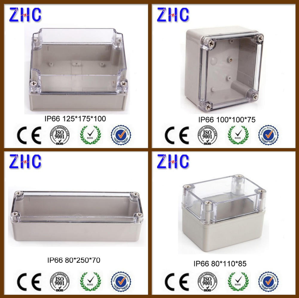 Plastic enclosures ABS & PC waterproof IP66 electrical junction cable box with clear lid