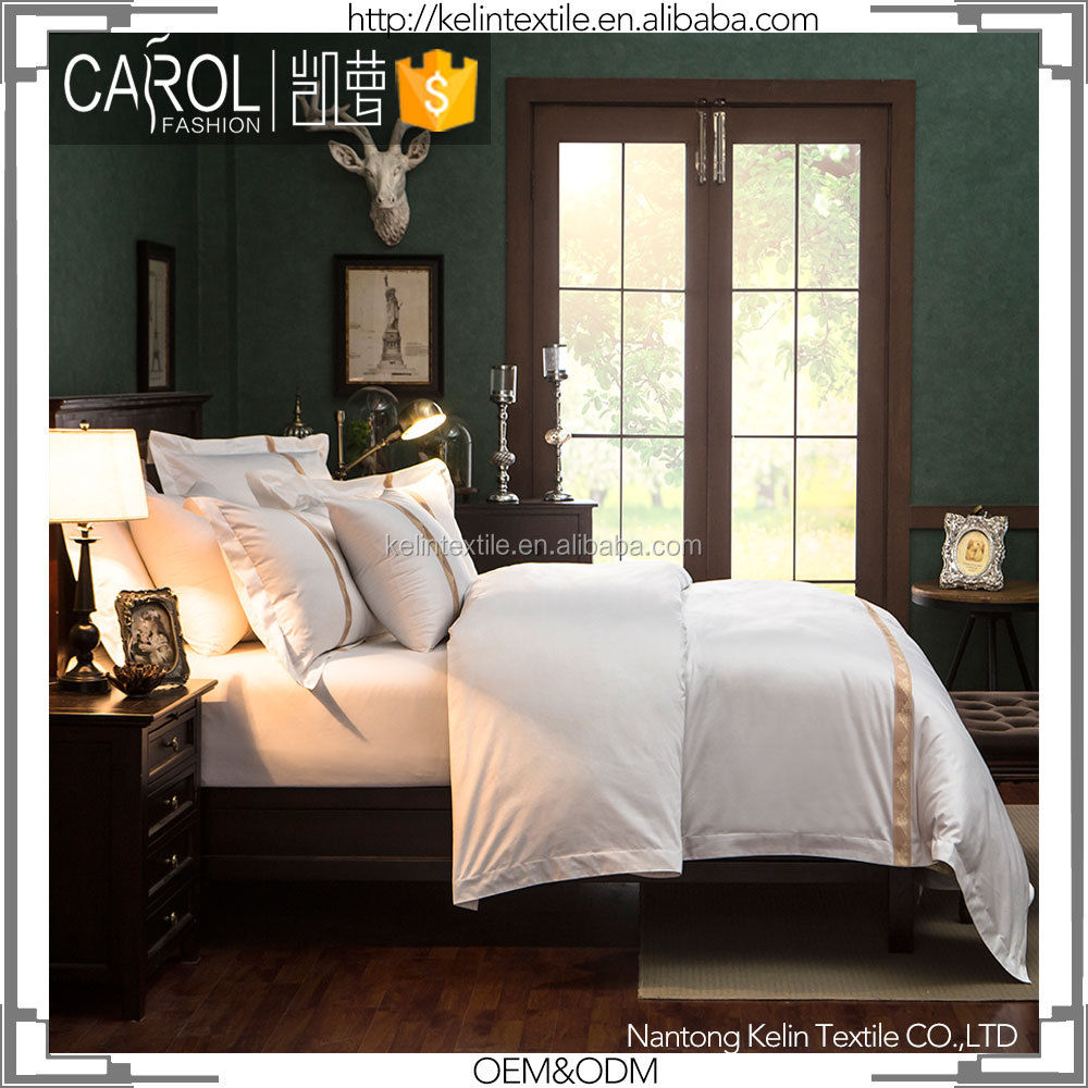 brand name 100% combed cotton twin size hotel bedding