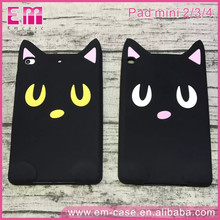 Hot 3D Cartoon Pocket Cat Soft Silicone Phone Case for iPad mini