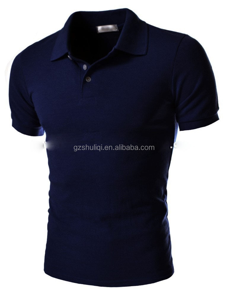 Full Navy men's sport sleeve polo shirts /T shirts/polo Tee casual wholesale cotton shirt custom t-shirt