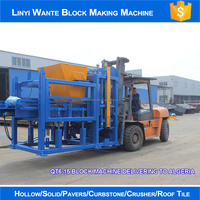 WANTE BRAND QT6-15 Fully Automatic Production line of Concrete Hollow Block Machine Price for Sale