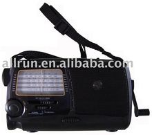 CE AND ROHS APPROVED SOLAR RADIO WITH FLASHLIGHT AND CHARGER