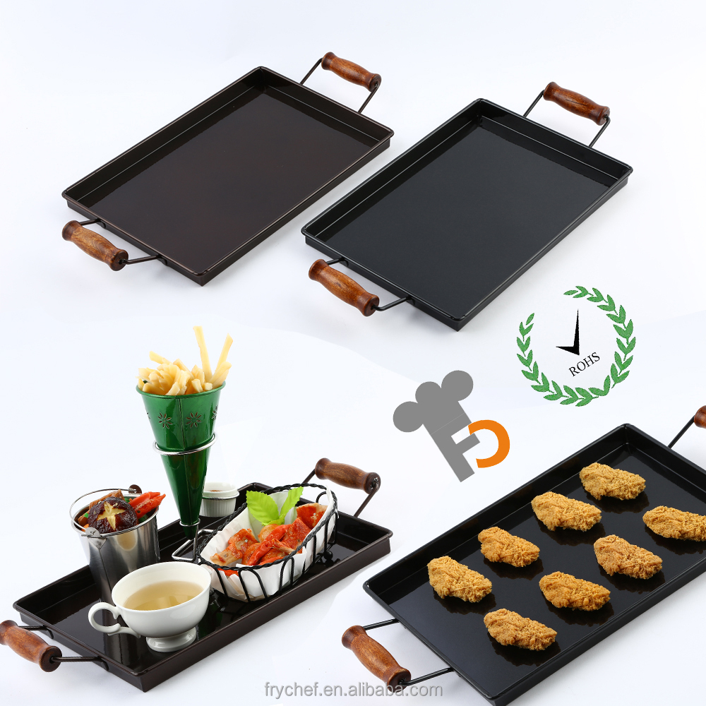 Nano Rectangle Food Storage Tray with Handle, Reliefs Dish, Dinner Platter F0114