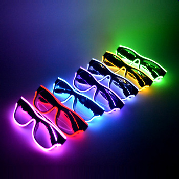 Festivals Party Supplies Cheap El Glow In The Dark Led Glasses
