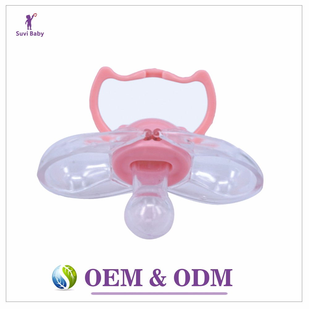Good baby child products safety FDA approval round head automatic closing pacifier funny baby soothers