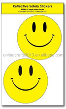 Smiley Face Reflective Safety Stickers
