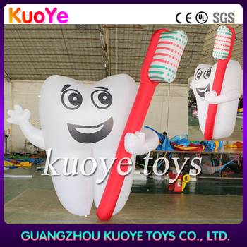 inflatable tooth and Toothbrush,3m inflatable tooth,outdoor inflatable tooth