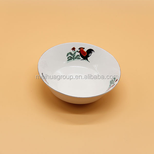 Hot sell ceramic soup bowl ,chinese rice pattern,ceramic chicken bowl