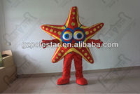 2010 PS costume popular red fish star mascot costumes