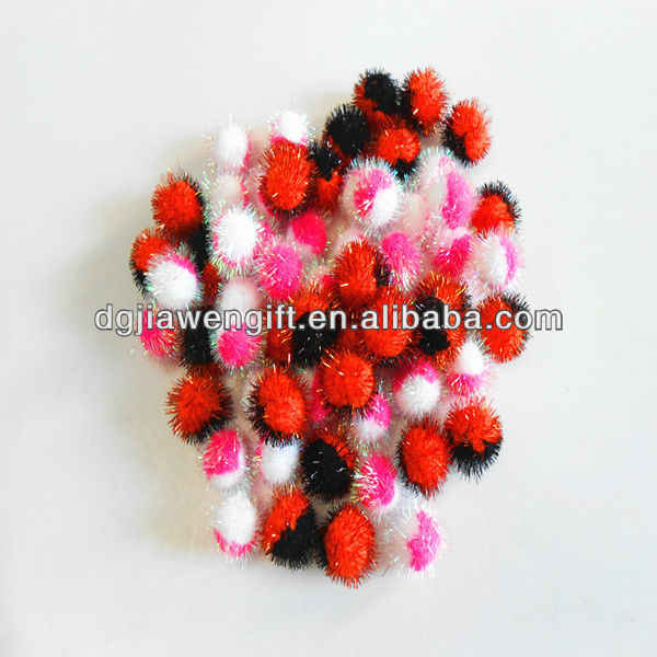 "Creativity Value Pack 1"" Mix Color Glitter Pompoms For USA Marketing"