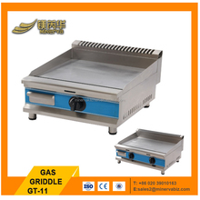 Industrial kitchen equipment pancake griddle stainless steel flat plate gas grill 3000W teppanyaki griddle
