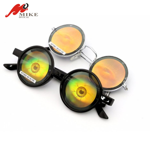 2019 Round Novelty 3D Hologram Sunglasses