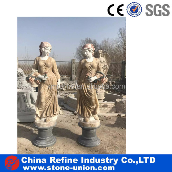 Outdoor Garden stone lady statue