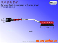 Plastic ice scraper snow brush with the elbow aluminum pipe/multi function cleaning car