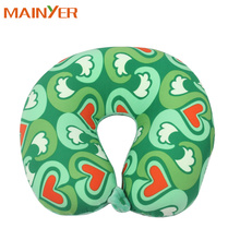 Flocked Travel Inflatable Neck Pillow