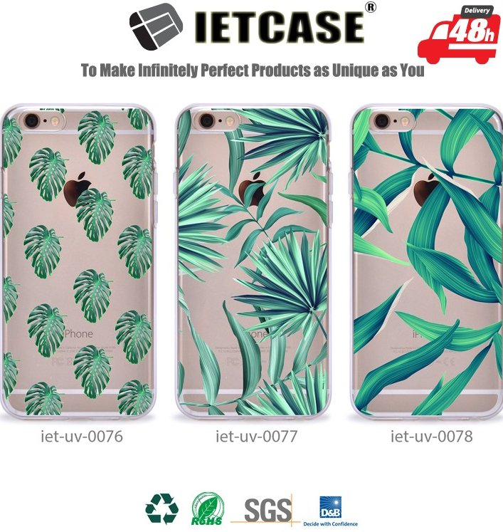 UV Color Printing Clear PC Hard Shell Tansparent TPU Back Cover for iPhone 7 6S Plus, Custom Design for iPhone 6 Case