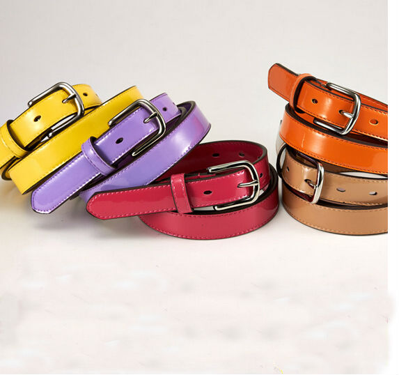 Handmade Band Hot Sale110cm *2.4cm Women Genuine Leather Belt For Multi-color