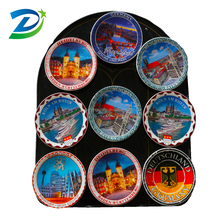 Custom made ceramic magnetic fridge , Germany souvenir ceramic fridge magnet , Travel souvenir magnets