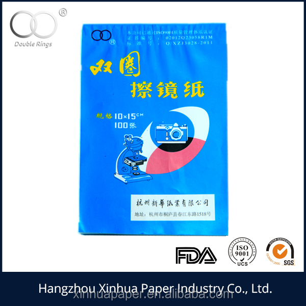double ring glass cleaning tissue paper 10X15cm