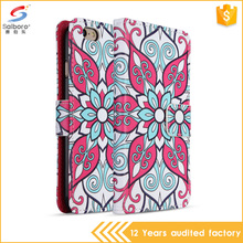 Unique Color Print Leather Mobile Phone Cover Case with Stand Function/ Card Slots Flip Case for iPhone 6 6s
