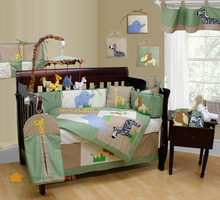 Cotton Embroidery 2014 european baby bedding set
