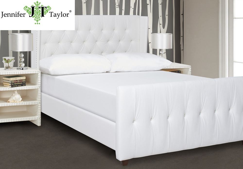 Modern bedroom furniture button tufted king size wooden bed frame