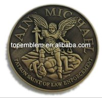 Patron saint of law beforcement high quality metal souvenir coin