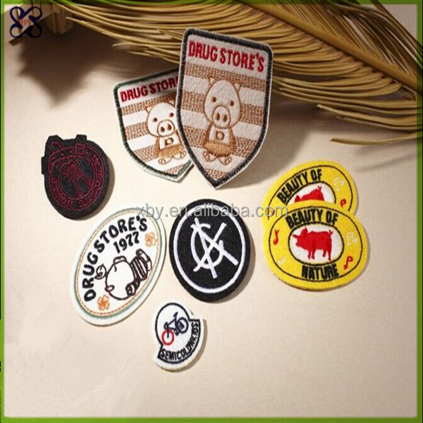 2017 wholesale custom embroidered brand patches