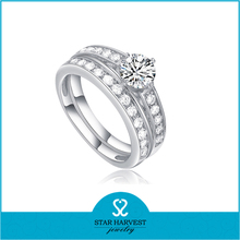 latest elegant CZ wedding ring