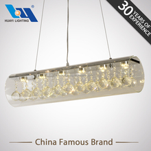 White or warm white light stainless steel crystal glass prism chandelier lamp pendants