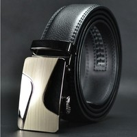 Factory price 3.5cm automatic buckle man genuine leather belts