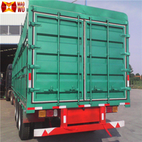 Dry freight large size van semi trailer,cargo transporting van truck trailer