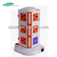 electrical multi vertical socket USB outlet lcd usb universal charger
