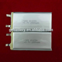 GEB 604396 li-ion battery 3.7v 2500mah mobile phone battery for micromax phone
