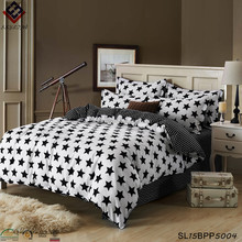 Cartoon black and white stripes bed sheet and duvet cover sets