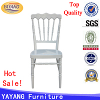 Modern tiffany party stackable aluminum banquet chair napoleon, cheap event chairs