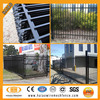 Australia ornamental black powder coated cheap wrought iron fence used
