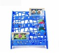 Ergonomic design eco-friendly decorative colored kids plastic bookshelf