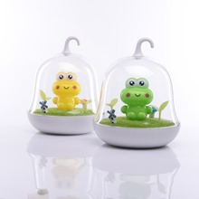 2016 voice sensor and touch sensor nightlight birdcage lamp for kid