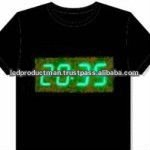 Digital Clock Flashing Shirts With Stopwatch