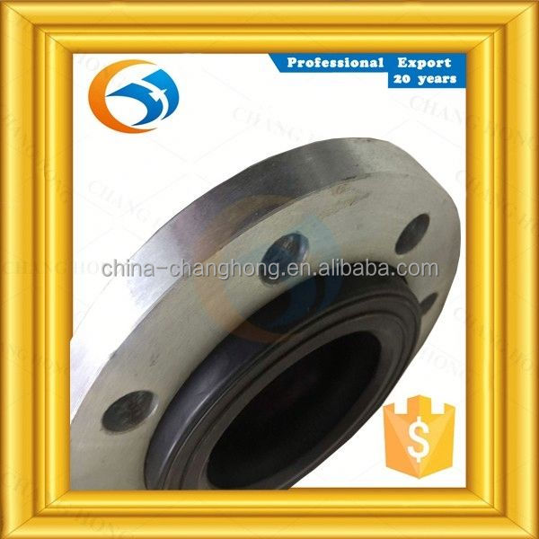 In stock double sphere flexible non-metallic expansion joint with flange end