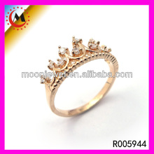 2017 Brillirant Shiny Rose Gold For Beautiful Girl Latest New Style Royal Ring