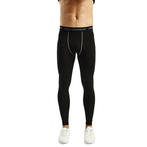 Sports wear Athletic Flex Fit Elastic Waist with Letter Printing Ankle Length compression legging for men