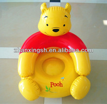 Cartoon bear design folding inflatable sofa set/plastic inflatable chair