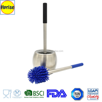 New design silicone toilet brush with holder