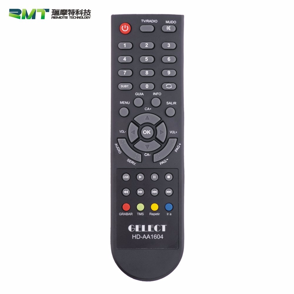 Hot selling 4 learning keys multifunctional Infrared remote control for TV /Set Top Box
