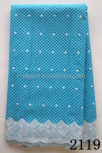 New Swiss voile lace in Switzerland fabric manufacturers tur blue voile african lace fabric