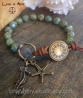 Starfish Friendship Bracelet Charm import Czech Beads Boho Beach Beachy Ocean Breeze Summer Fashion Design bracelet