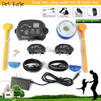 Underground Pet Fence Waterproof Rechargeable 2 Dogs Training Shock Collar